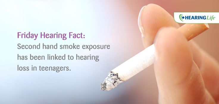 Friday Hearing Fact: Second hand smoke exposure has been linked to #heaingloss in teenager
