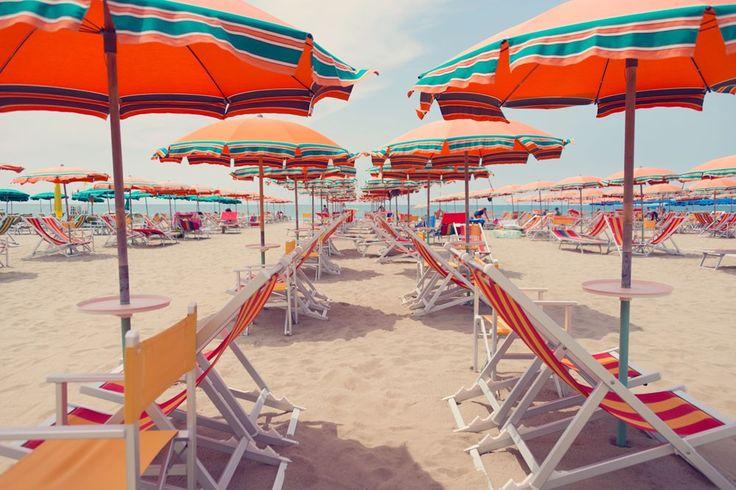 Bagni Soliel, Viareggio Photography, Beach art, Grey