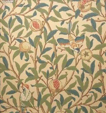 William Morris Bird & Pomegranate