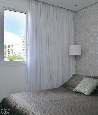 13 quartos de casal com papel de parede