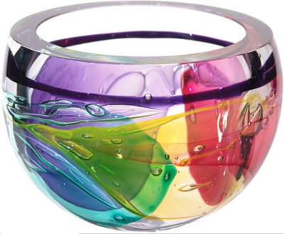 Beautiful glass art for the Gemini home.  Leon Applebaum Hand Blown Bowl. http://ariellesastrology.com/