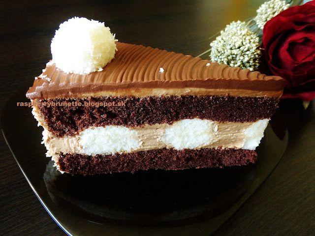 Veľmi jemná, lahodná torta, vďaka jemnej nugátovej plnke, šťavnatým kokosovým guličkám a skvelému sacher korpusu, ktorý nikdy...