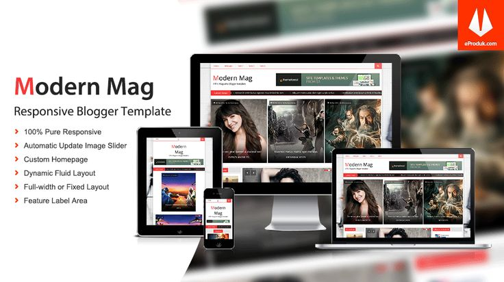 Responsive Blogger Template v1 Modern Mag is an excellent blogger template multipurposes, such as good new solution for news, magazine or personal blogs.