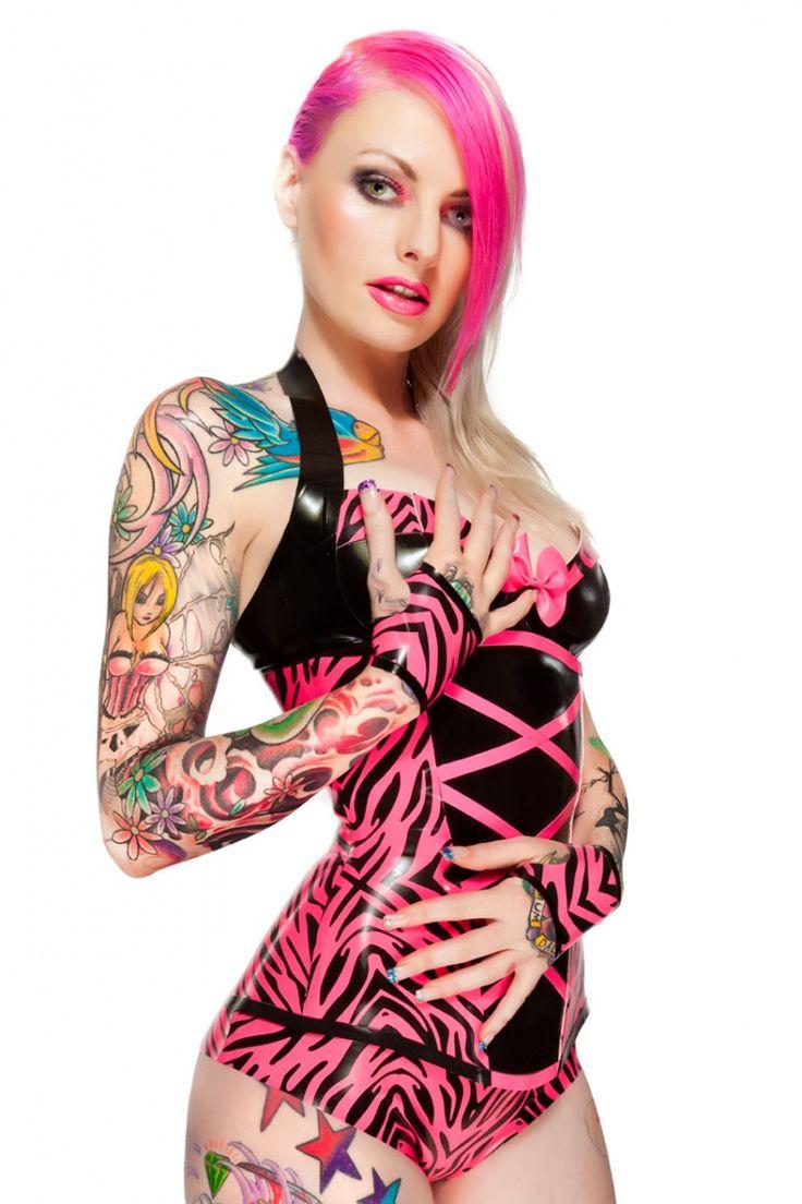 Pink Pirate InkedSexy, Pink Zebras, Body Art, Words Tattoo, Zebras Prints, Tattoo Pink, Tattoo Ink, Bright Colors, Vibrant Pink