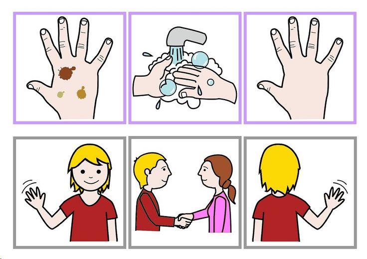 handen wassen / hallo