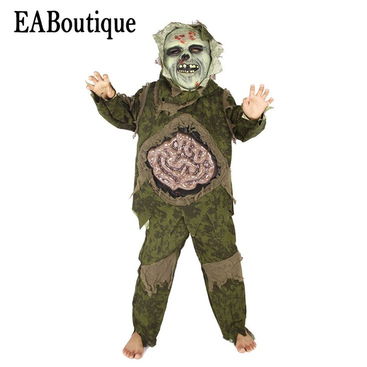 eaboutique new high quanlity scary horror intestines monster halloween costumes for kids boys include mask outfit 3 pcs scary halloween costumes for