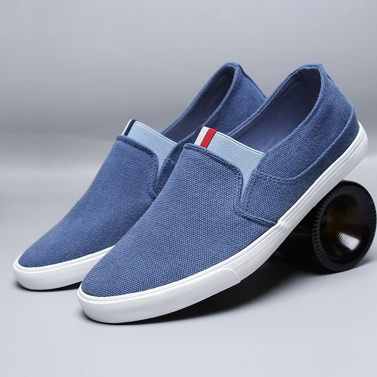 washed canvas slip-on sneaker
