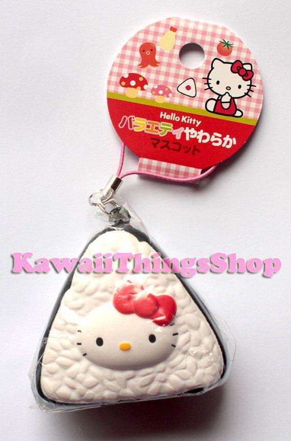 RARE Sanrio Hello Kitty Onigiri Rice Squishy by Kawaiithingsshop, £12.50