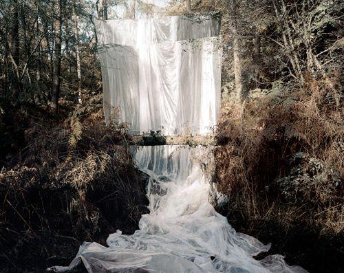 Les Amants (Cascade), Colour Photograph, 168 x 210 cm, 2009    Noemie Goudal