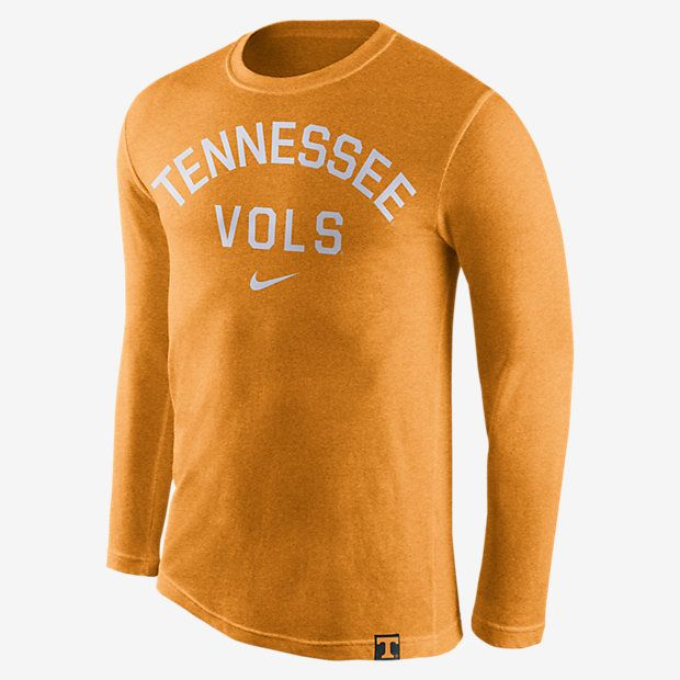 Tennessee Volunteers Nike Conviction Long Sleeve Tri-Blend T-Shirt - Heather  Tennessee Orange