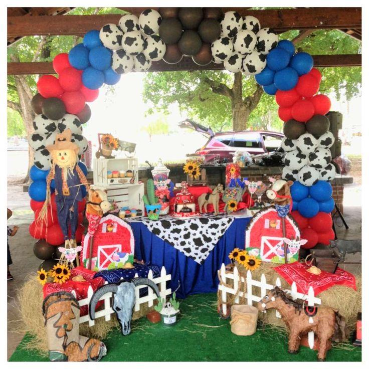Dessert Table for Country Western Birthday Party #firstbirthdayideas #cowboybirthday #westernbirthdaydecorations