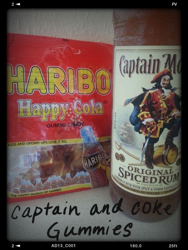 Captain and coke gummy bears!