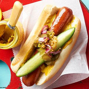 Classic Dogs with Tangy-Sweet Relish From Better Homes and Gardens, ideas and improvement projects for your home and garden plus recipes and entertaining ideas.