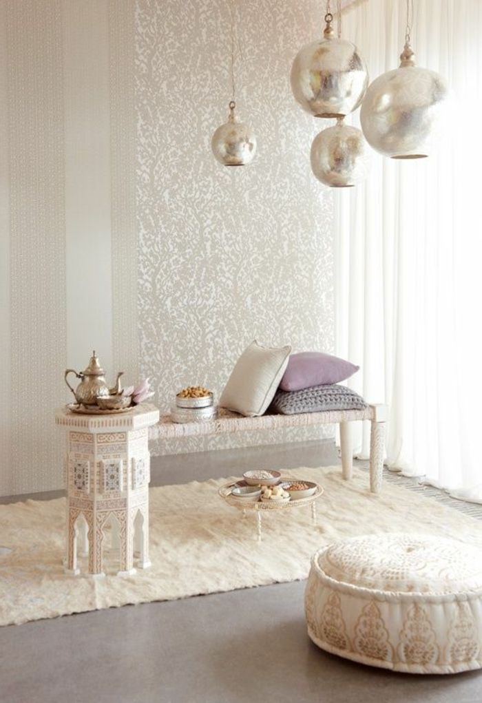Orientalisch Wohnen Dekorationen Kaffeetisch Kaffeekanne Sitzkissen  Hängende Lampen Dekokissen Tapeten