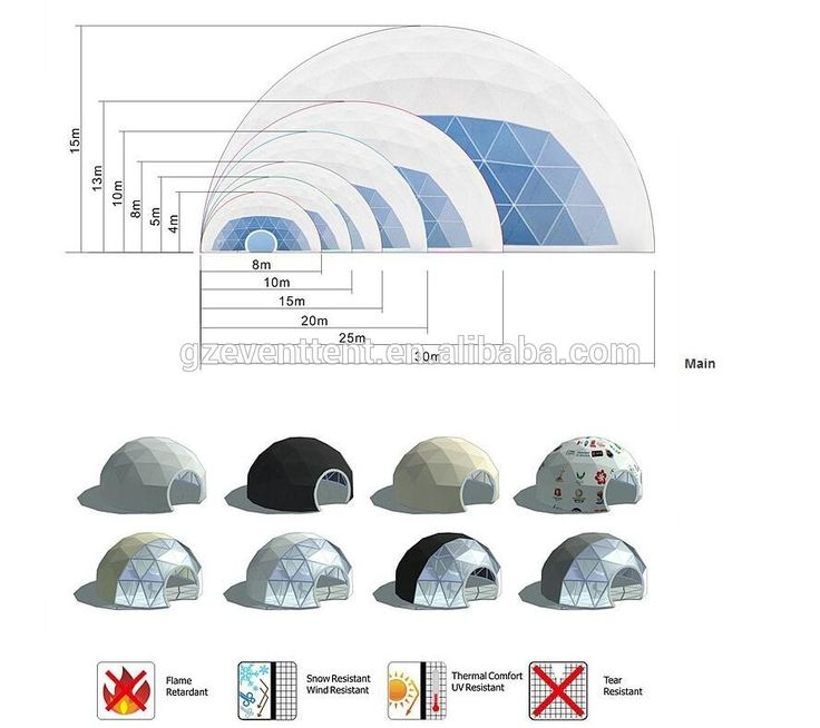 50meter geodesic dome greenhouse with best price from guangzhou tent factory