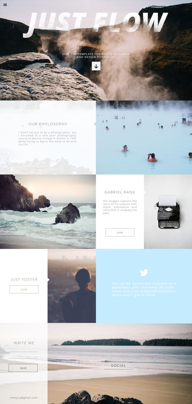 Website: Responsive Website Template for Photo Galleries and Portfolios (PSD)