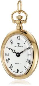 Catorex Women's 570.6.12410.110 Les petites 18k Gold Plated Brass Horse Picture Back Pendant Watch Catorex. $256.17