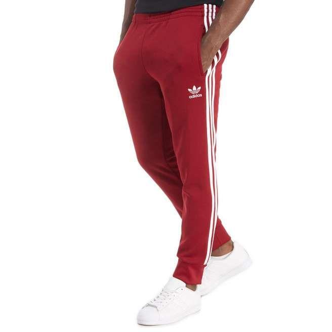 Adidas UK Online/Adidas Originals Superstar Track Pants Red Pants Men