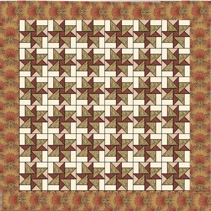 """Hope of Hertfordshire   90"""" x 90""""   12"""" Finished Block   9"""" Finished Border     See the free quilt pattern below.         Here's a st..."""