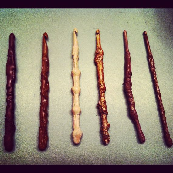 Set of 6 - Handmade Harry Potter Inspired Wand Crochet Hooks. $30.00, via Etsy.  I MUST HAVE THESE. SOMEONE PLEASE GET ME THESE FOR CHRISTMAS! (Not yelling at you.. just SUPER DUPER EXCITED!