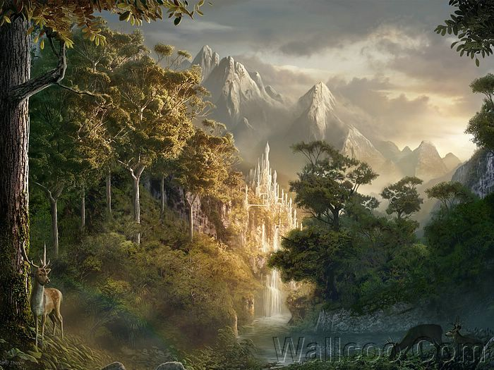 Rivendell, Lord of the Rings ~ { concept art }