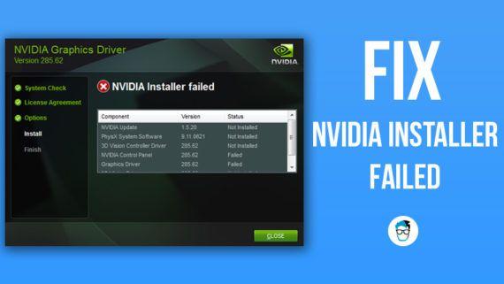 Fix Nvidia Installer Failed Error In Windows 10 Diy Guide Nvidia Fails Pc Repair