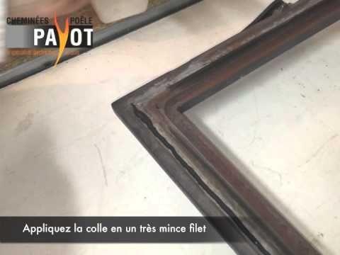 Changement d'un joint de porte et joint de vitre Poêle à bois/ Insert.