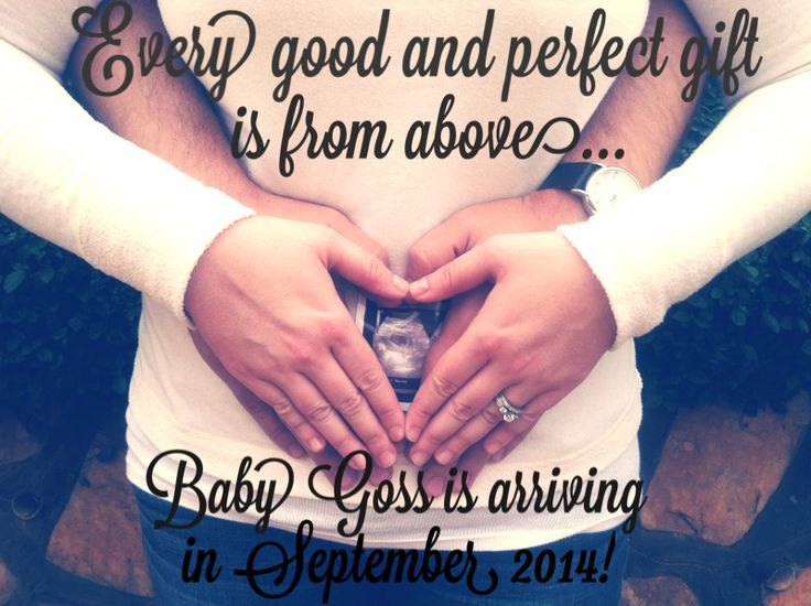 Pregnancy announcement for first baby
