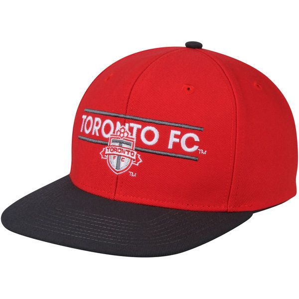 * Men's Toronto FC adidas Red/Onyx Dassler Flat Brim Two-Tone Snapback Adjustable Hat, Your Price: $25.99
