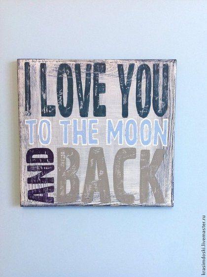 """Wood poster """"Люблю"""", 30 х 30 см. На заказ в творческой мастерской """"Красим доски"""". деревянное панно табличка интерьерная, вывеска декоративная. #handmade #табличка #панно #вывеска #woodposter #krasimdoski"""