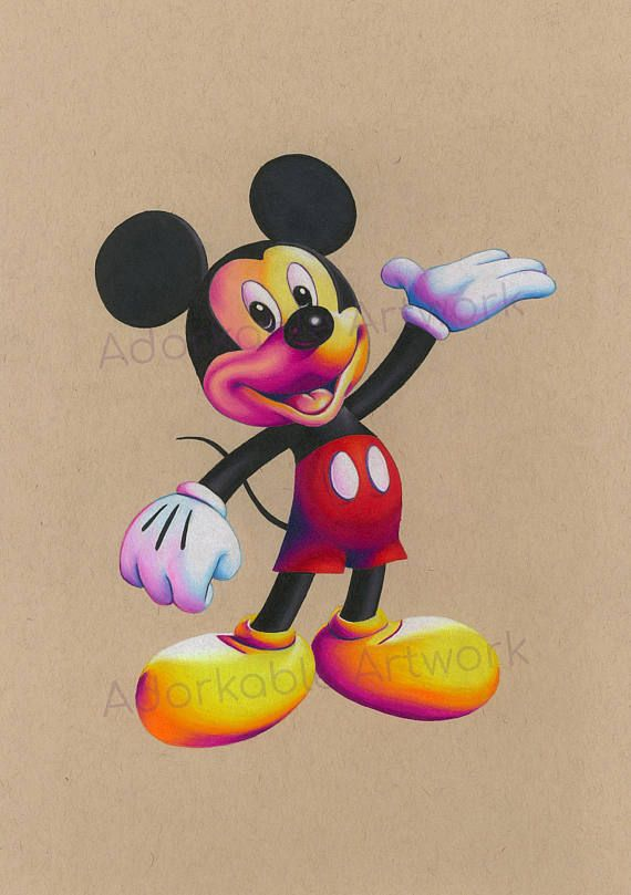ORIGINAL Mickey Mouse Drawing