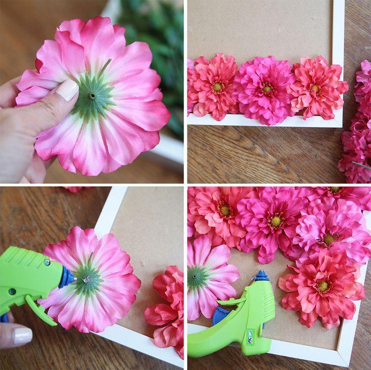 Quadro floreale fai da te in poche mosse | Fai da Te Creativo