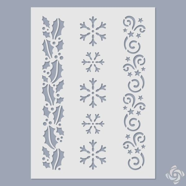 Stencil - Christmas pattern - FN-DECO - Arts and Crafts