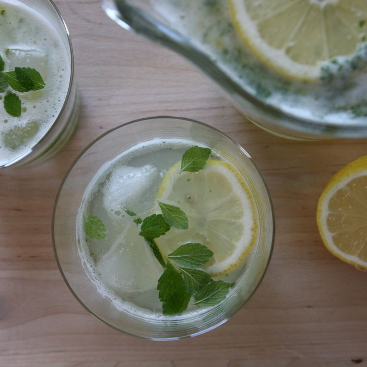 Homemade lemonade, refreshing and light, with just a pinch of cane sugar.
