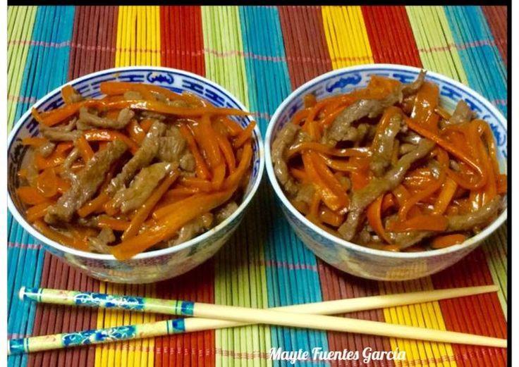 Ternera picante con zanahoria