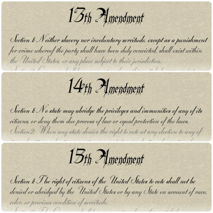 13th 14th and 15th amendments essay Open document below is an essay on 13th amendment from anti essays, your source for research papers, essays, and term paper examples.