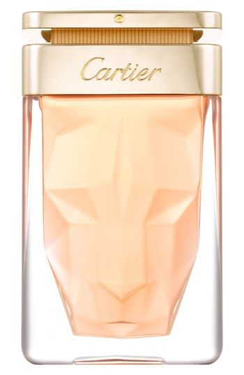 Cartier 'La Panthère' Eau de Parfum Spray is my new spring scent! The majestic, fascinating scent of La Panthère Eau de Parfum by Cartier combines radiant gardenia with mellow musky notes. It's housed in a unique bottle that features the sculpted face of a panther.