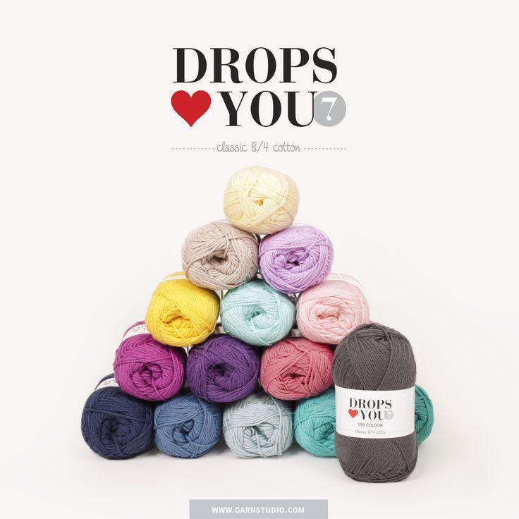 Seguimos ampliando nuestra gama de productos con Drops <3 You #7. ¡100% Algodón en 19 colores chulísimos! http://www.misskits.com/categoria/Drops/Drops-Loves-You-7