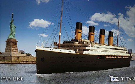 "The Titanic II sets sail in April 2016 and plans to recreate the journey of the original Titanic from Southampton to New York City, in original 1910's style, aka no internet or TV, and ""No Mingling of the Classes.""  How Steampunk!"