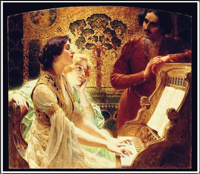 Alois Hans Schram (1864-1919), La Leçon de Piano - 1902