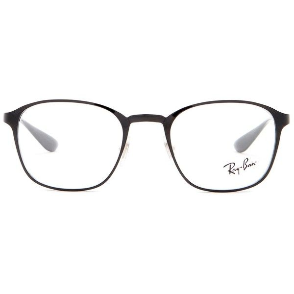 Ray-Ban Unisex Active Lifestyle Squared Optical Frames ($90) ❤ liked on Polyvore featuring accessories, eyewear, eyeglasses, square glasses, ray-ban eye glasses, square eyeglasses, clear lens glasses and lens glasses