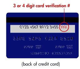Cvn Number On Visa Card