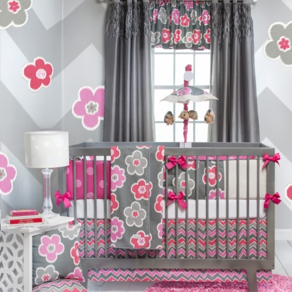 addison baby girl crib bedding collection also available in twin and fullqueen sizes - Gray Baby Cribs
