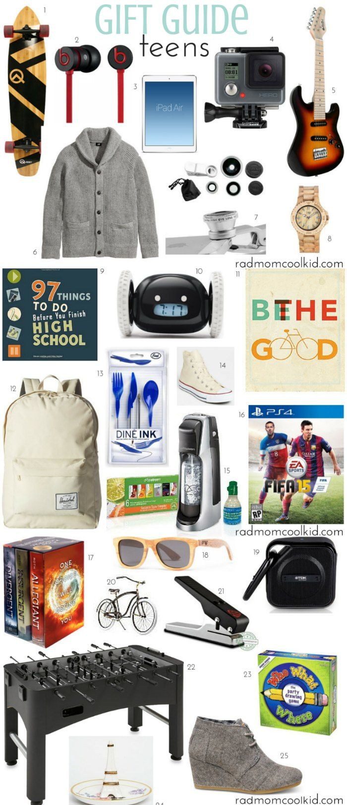 Gift Guide: Teen | Rad Mom Cool Kid | Pinterest | Gifts, Christmas ...