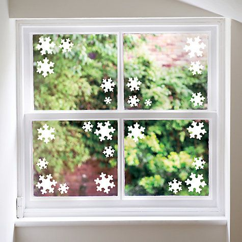 Buy Fun To See Christmas Snowflakes Window/Wall Stickers, Pack of 30 Online at johnlewis.com