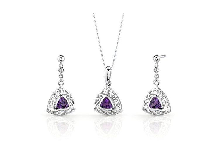 Ametystové náušnice s přívěškem. #sperky #zUSA #nausnice #prsteny #nahrdelniky #diamanty #perly #moda Jedinečné zlaté s stříbrné šperky jen na https://Klenota.cz