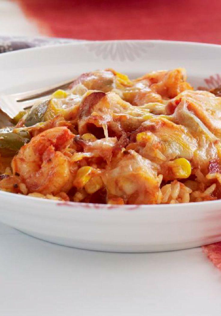 Arroz con camarones y queso preparado con anticipación- Prepara platillos con anticipación y pasa más tiempo con tu familia. Prueba este rico arroz con camarones y queso.