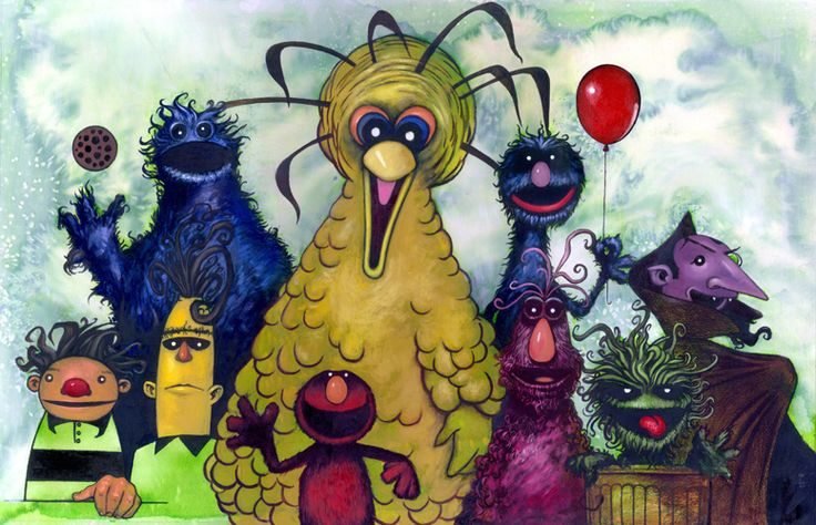 """""""Gang from the Street"""" by Kevin Eslinger... very Tim Burton, love."""