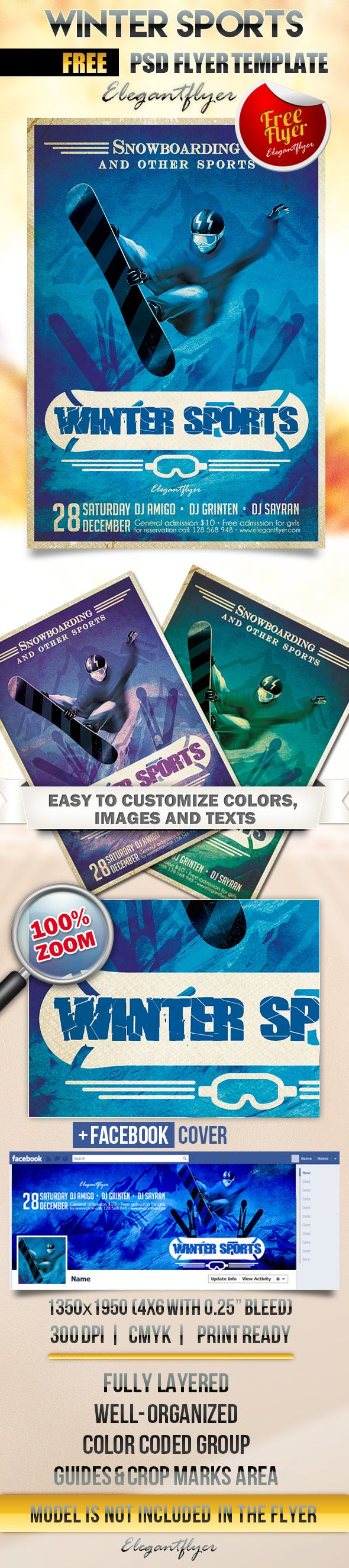 11 best sport flyer images on pinterest event flyers winter sports flyer psd template facebook cover httpselegantflyer fandeluxe Gallery