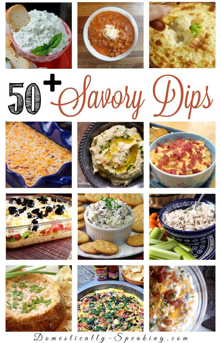 50 Savory Dips perfect for football and parties